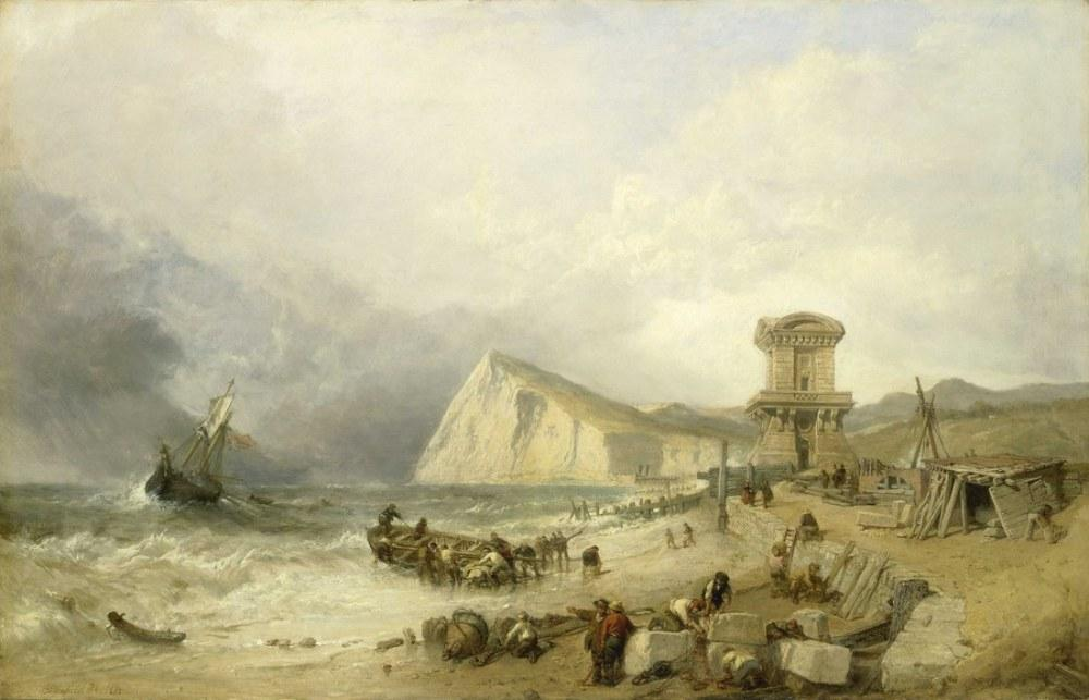 Shakespeare Cliff Dover, Clarkson Stanfield, Kanvas Tablo, Clarkson Frederick Stanfield
