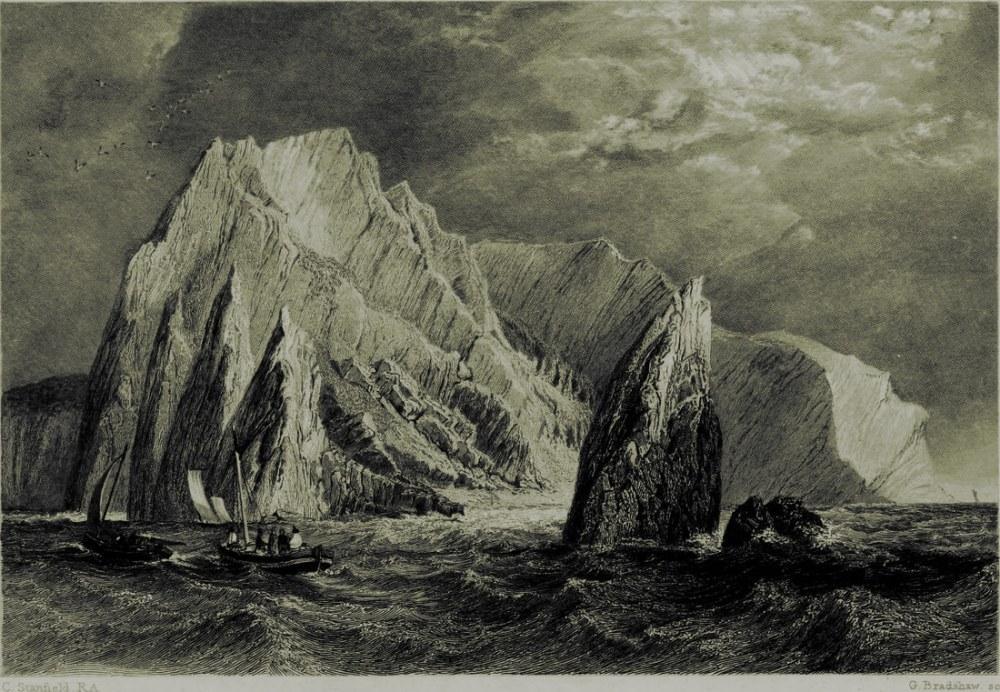 İngiliz Kanalı Kıyı Manzarası, Clarkson Stanfield, Kanvas Tablo, Clarkson Frederick Stanfield, kanvas tablo, canvas print sales