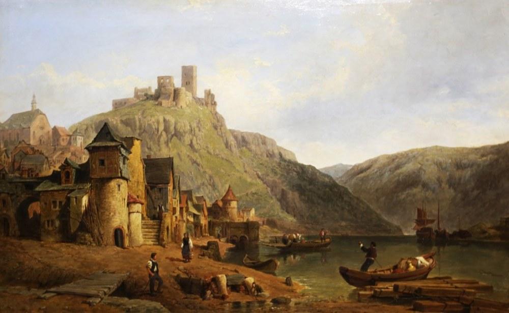 Moselle Üzerinde Cochem, Clarkson Stanfield, Kanvas Tablo, Clarkson Frederick Stanfield