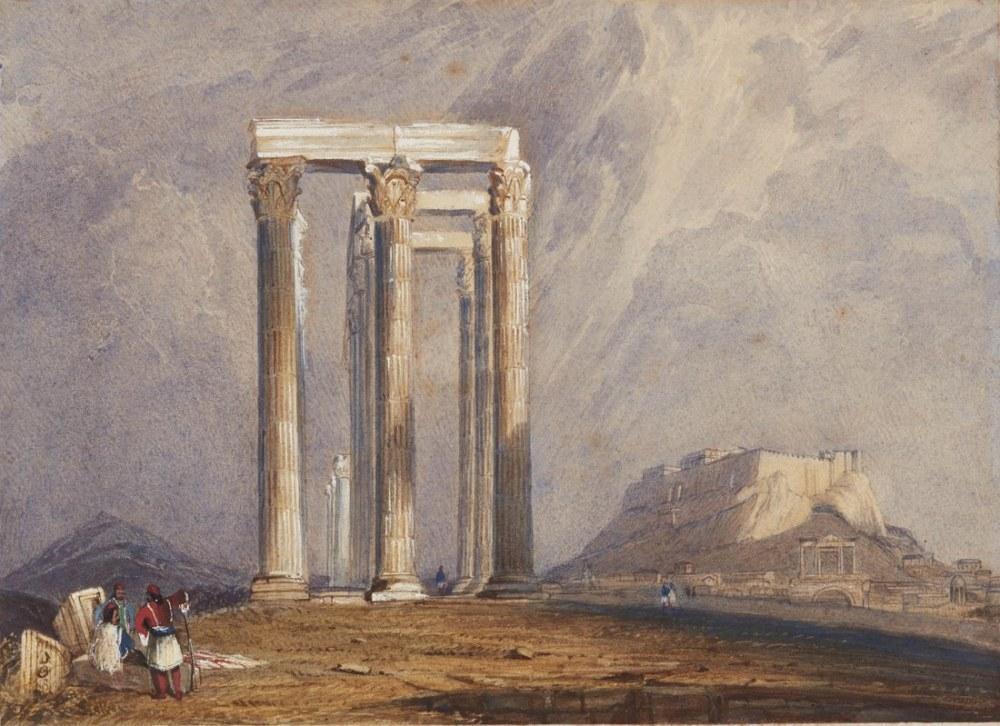 The Temple of Jupiter Olympus Athens, Kanvas Tablo, Clarkson Frederick Stanfield, kanvas tablo, canvas print sales
