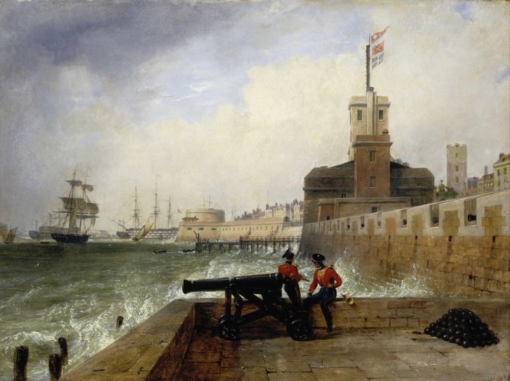 Semaphore Portsmouth, Clarkson Stanfield, Kanvas Tablo, Clarkson Frederick Stanfield, kanvas tablo, canvas print sales