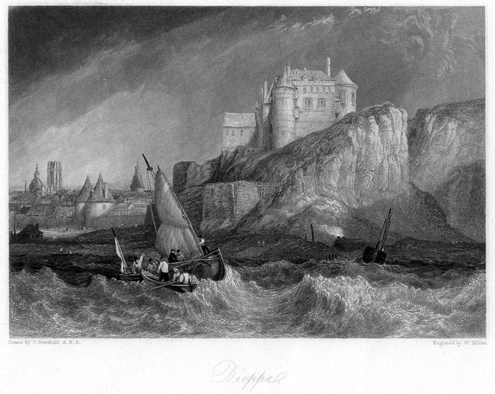 Dieppe Gravür, Kanvas Tablo, Clarkson Frederick Stanfield