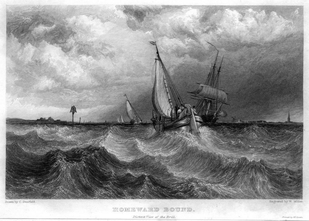 Homeward Bound Engraving, Kanvas Tablo, Clarkson Frederick Stanfield