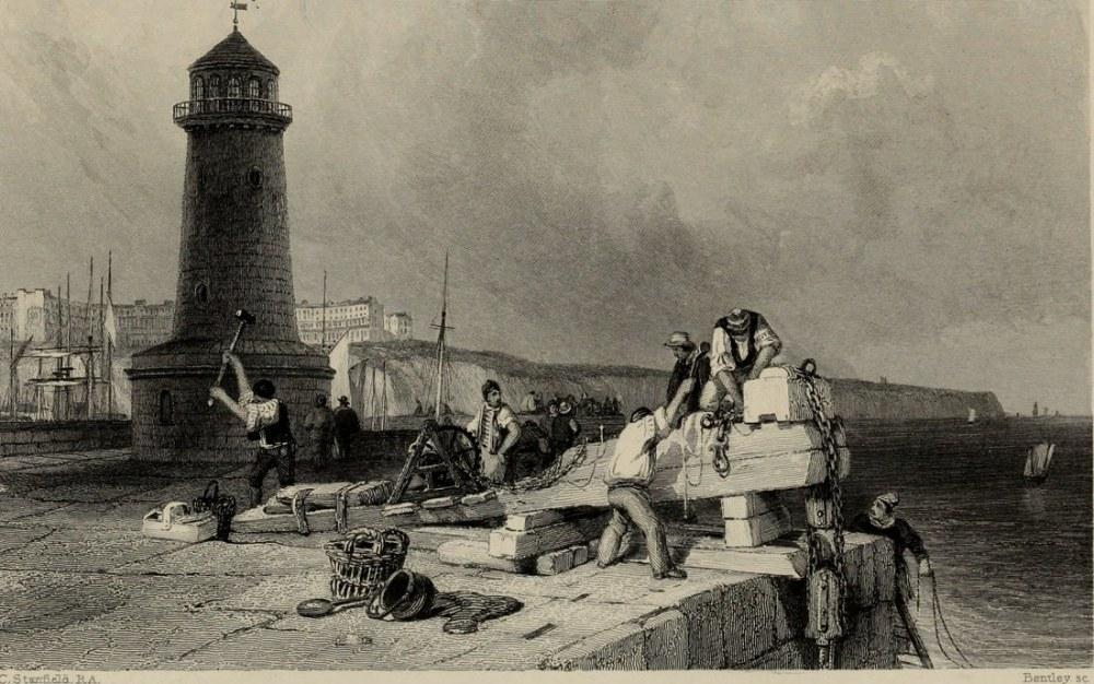İngiliz Kanalı ve Fransa Kıyısı, Deniz Feneri, Kanvas Tablo, Clarkson Frederick Stanfield