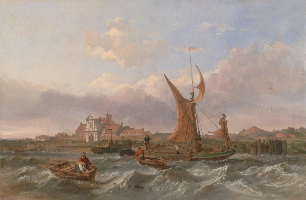 Tilbury fort Gelgitine Karşı Rüzgar, Clarkson Frederick Stanfield, Kanvas Tablo, Clarkson Frederick Stanfield, kanvas tablo, canvas print sales
