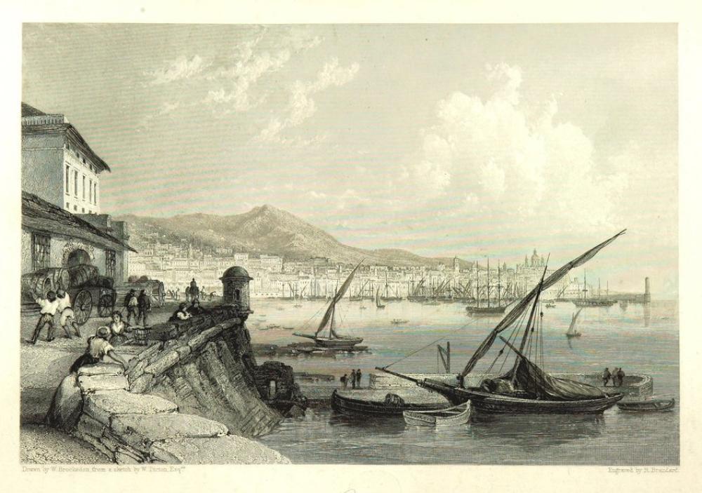 Eski Kütüphane Genova, Kanvas Tablo, Clarkson Frederick Stanfield