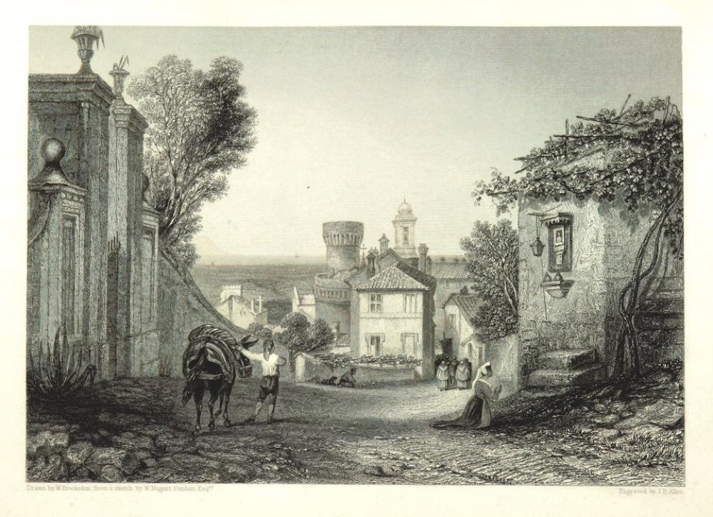 A Street Engraving, Canvas, Clarkson Frederick Stanfield, kanvas tablo, canvas print sales