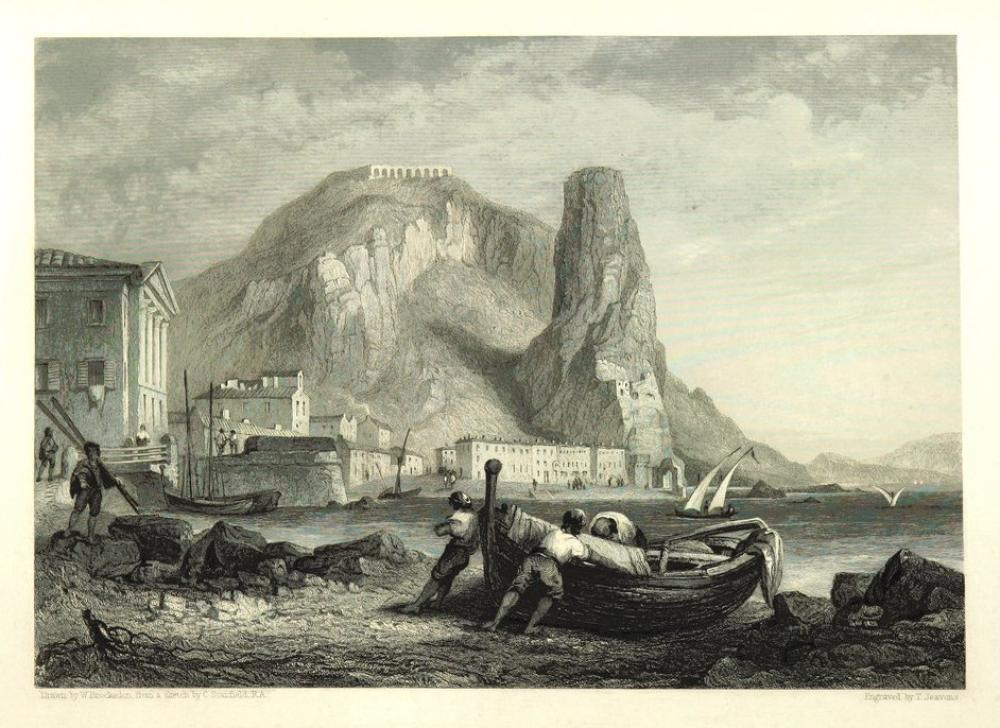 Terracina, Kanvas Tablo, Clarkson Frederick Stanfield