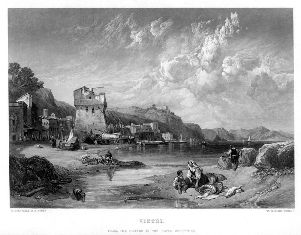 Vietri Gravür, Kanvas Tablo, Clarkson Frederick Stanfield