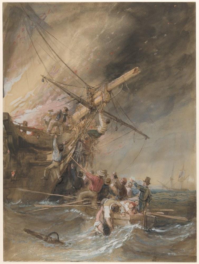 Denizde Yangın, Kanvas Tablo, Clarkson Frederick Stanfield