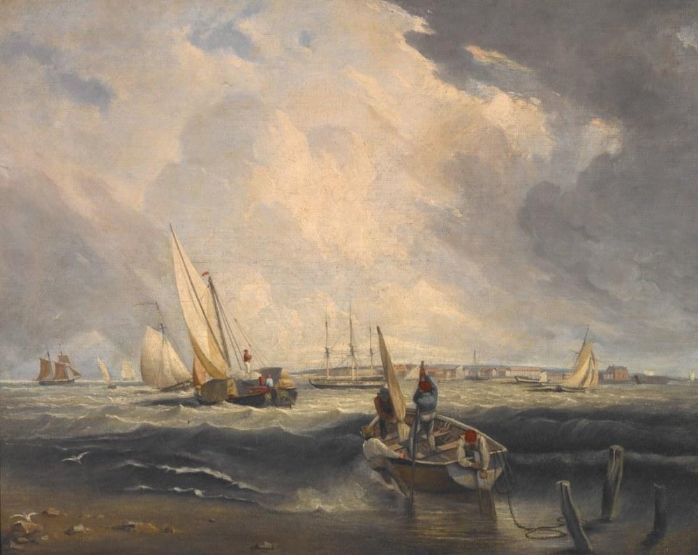 Bligh Sands, Sheerness, Clarkson Stanfield, Kanvas Tablo, Clarkson Frederick Stanfield