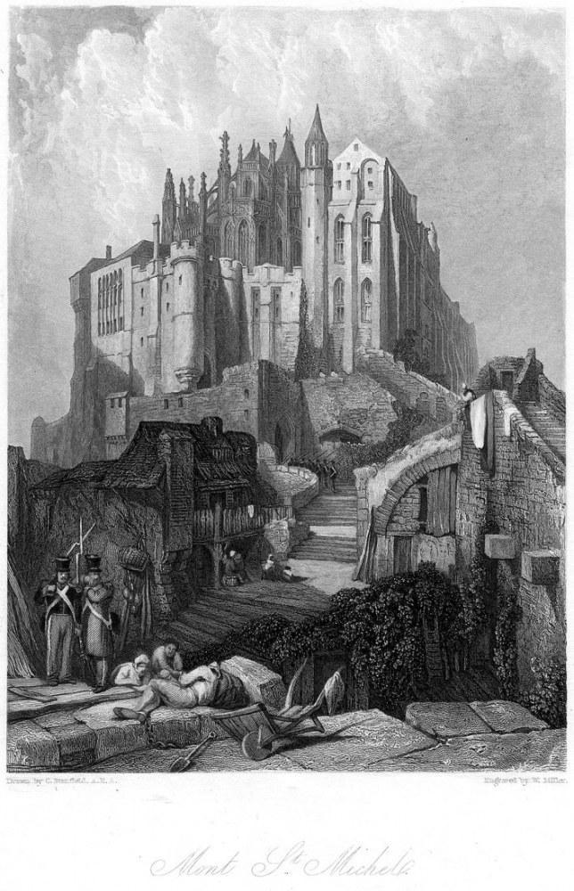 Mont St Michel Gravür, Kanvas Tablo, Clarkson Frederick Stanfield