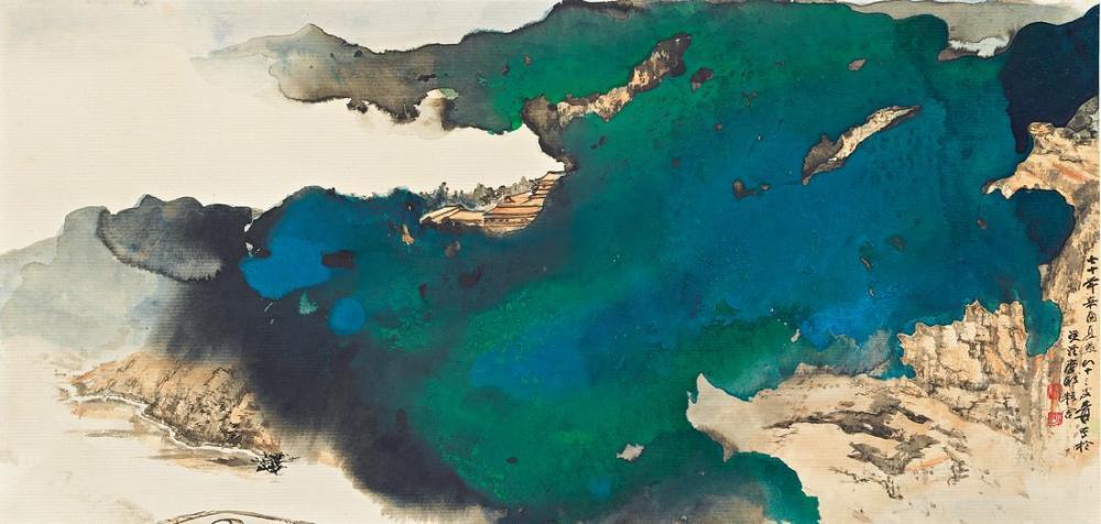 Daqian Zhang Tang İniş Gövdesi, Kanvas Tablo, Daqian Zhang