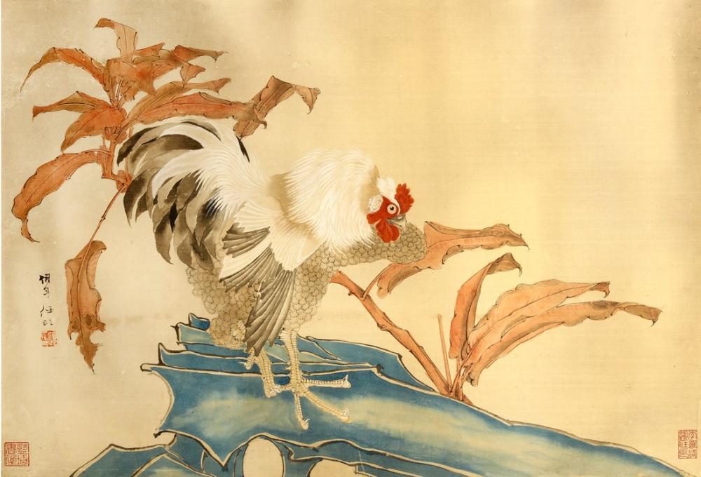 Daqian Zhang Horoz, Kanvas Tablo, Daqian Zhang