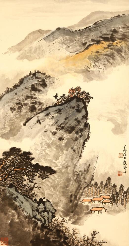 Daqian Zhang Ying Yeping Landscape Map, Canvas, Daqian Zhang, kanvas tablo, canvas print sales