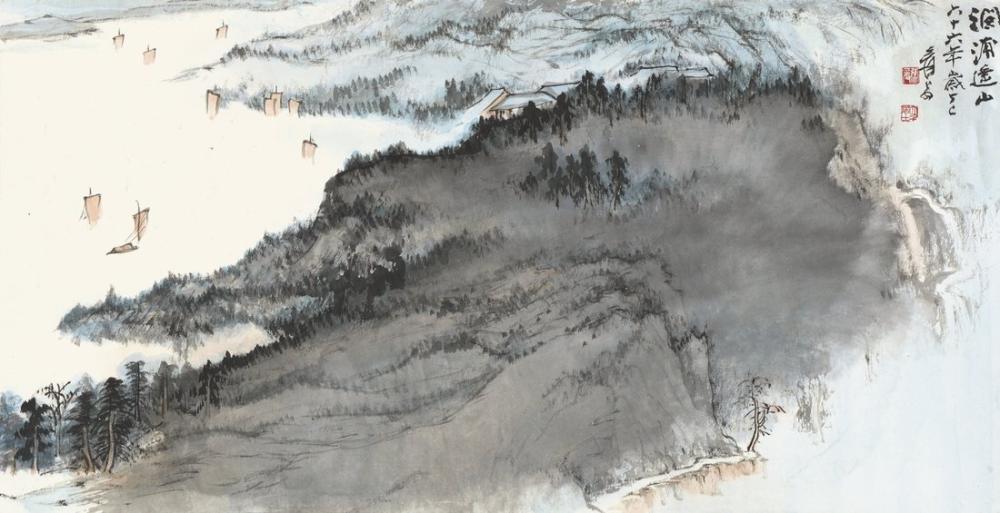 Daqian Zhang Pupu Yaoshan, Kanvas Tablo, Daqian Zhang