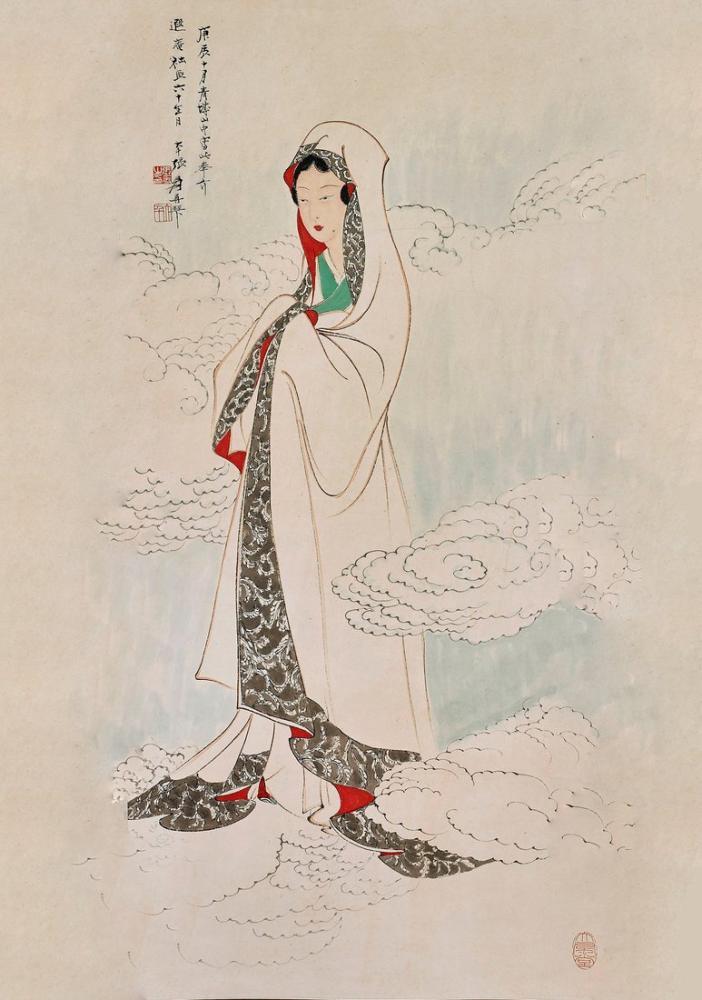 Daqian Zhang Çinli Bir Kadın, Kanvas Tablo, Daqian Zhang, kanvas tablo, canvas print sales