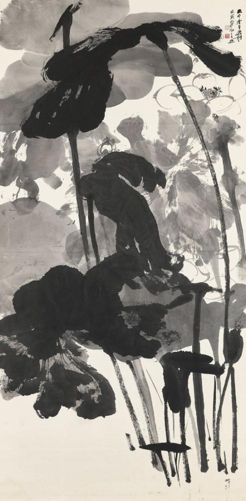 Daqian Zhang Lotus I, Kanvas Tablo, Daqian Zhang, kanvas tablo, canvas print sales