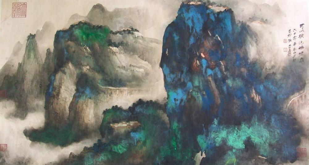 Daqian Zhang Emei Dağı, Kanvas Tablo, Daqian Zhang