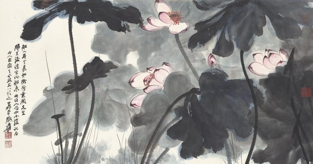 Daqian Zhang Lotus V, Kanvas Tablo, Daqian Zhang