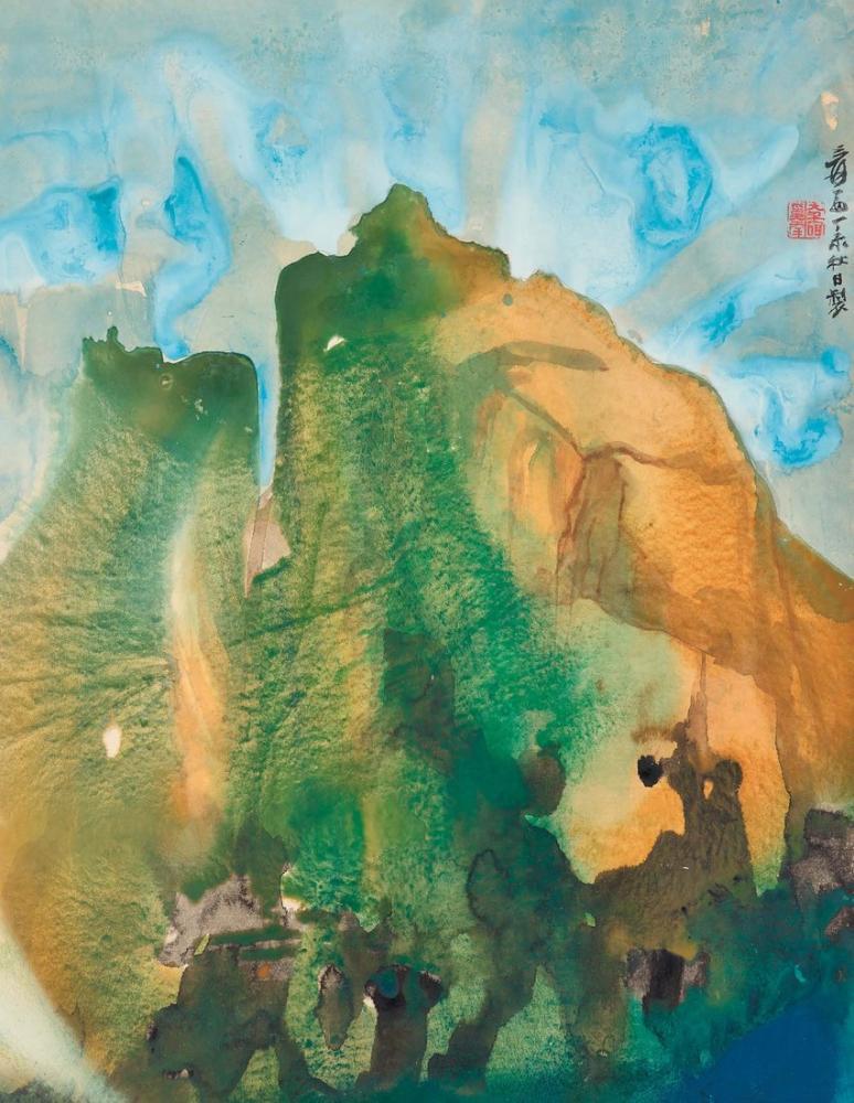 Daqian Zhang California Dağda Yaz, Kanvas Tablo, Daqian Zhang, kanvas tablo, canvas print sales