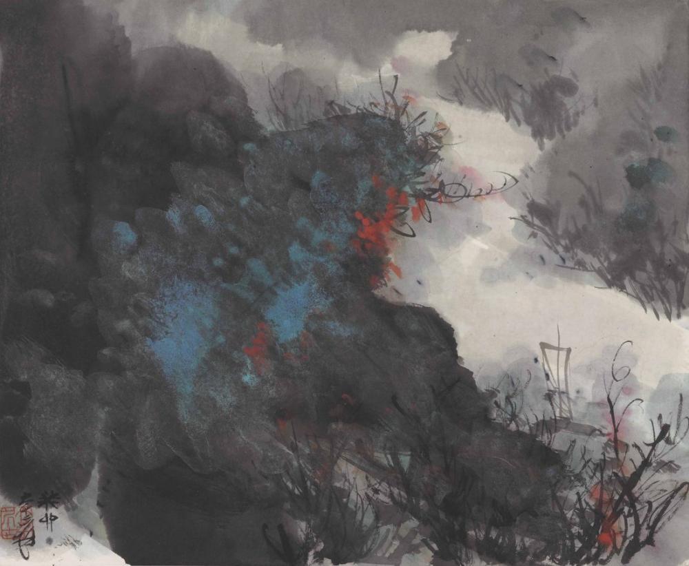 Daqian Zhang Boat In Splashed, Canvas, Daqian Zhang, kanvas tablo, canvas print sales