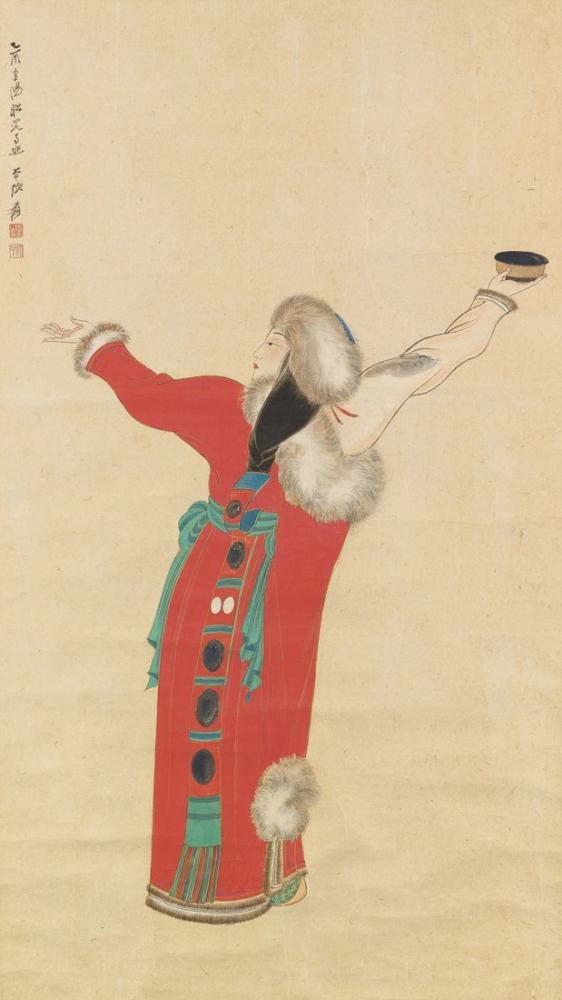 Daqian Zhang Tibet Dansçısı, Kanvas Tablo, Daqian Zhang
