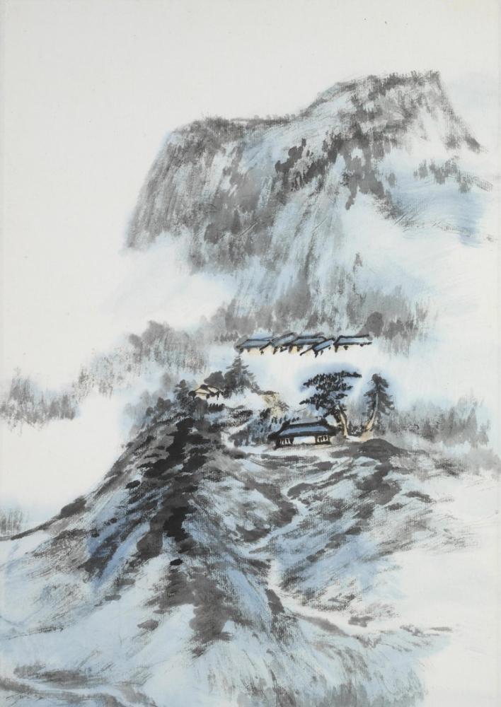 Daqian Zhang Karlı Manzara, Kanvas Tablo, Daqian Zhang, kanvas tablo, canvas print sales
