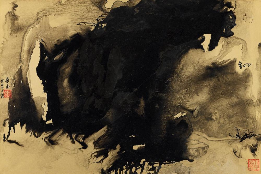 Daqian Zhang Dwelling In The Misty Mountains, Canvas, Daqian Zhang, kanvas tablo, canvas print sales