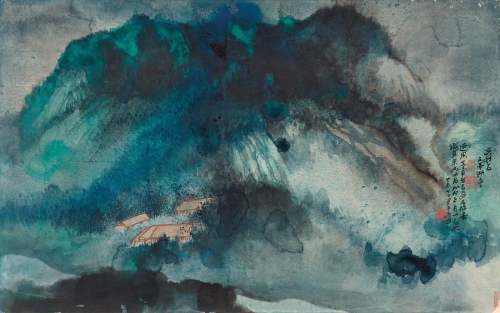 Daqian Zhang Beş Köşk Gölü, Kanvas Tablo, Daqian Zhang, kanvas tablo, canvas print sales