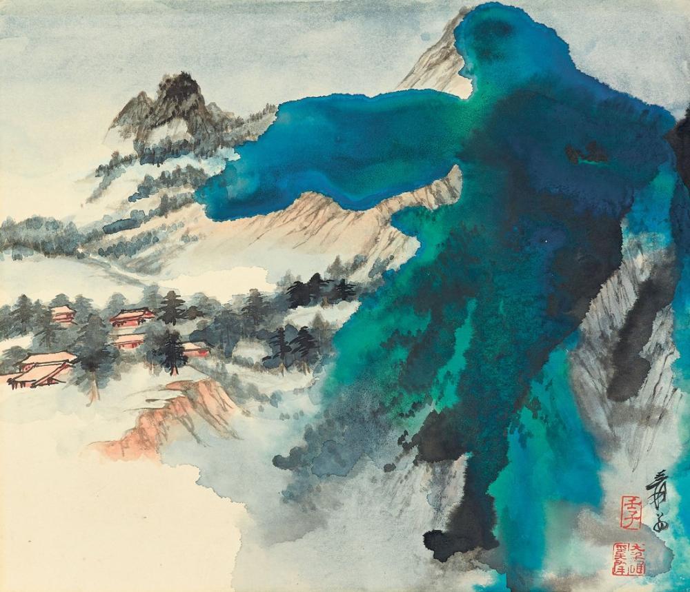 Daqian Zhang Bahar Batı Zirvesine Geliyor, Kanvas Tablo, Daqian Zhang