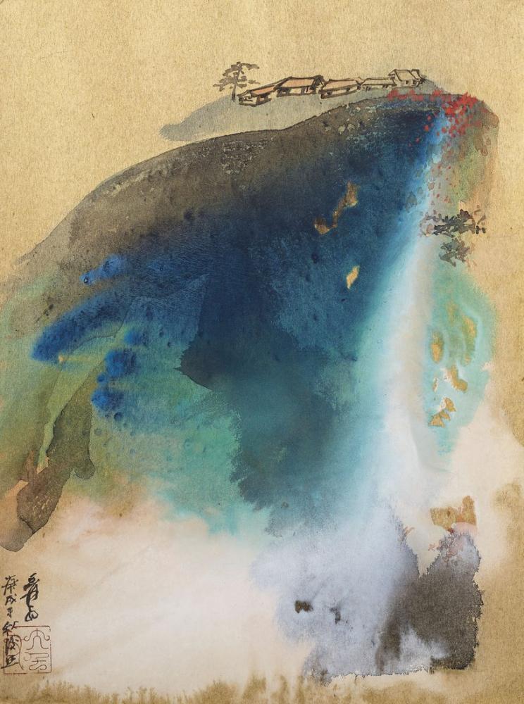 Daqian Zhang Sonbaharda Yaşayan Dağ, Kanvas Tablo, Daqian Zhang, kanvas tablo, canvas print sales