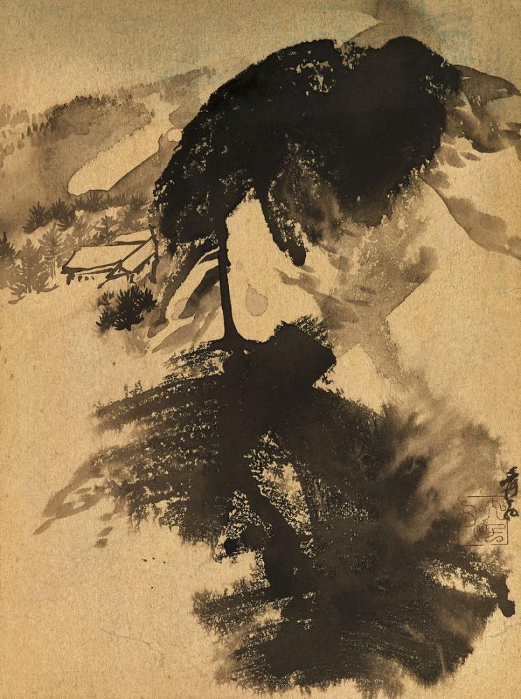 Daqian Zhang Dağ Tapınağı, Kanvas Tablo, Daqian Zhang, kanvas tablo, canvas print sales