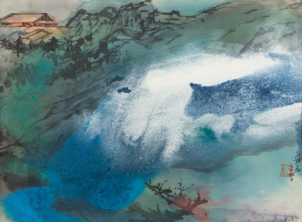 Daqian Zhang Karlı Dağlarda Tapınak, Kanvas Tablo, Daqian Zhang, kanvas tablo, canvas print sales