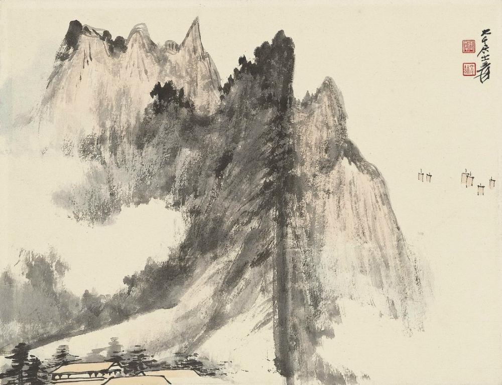 Daqian Zhang Volkanik Tıkaç, Kanvas Tablo, Daqian Zhang