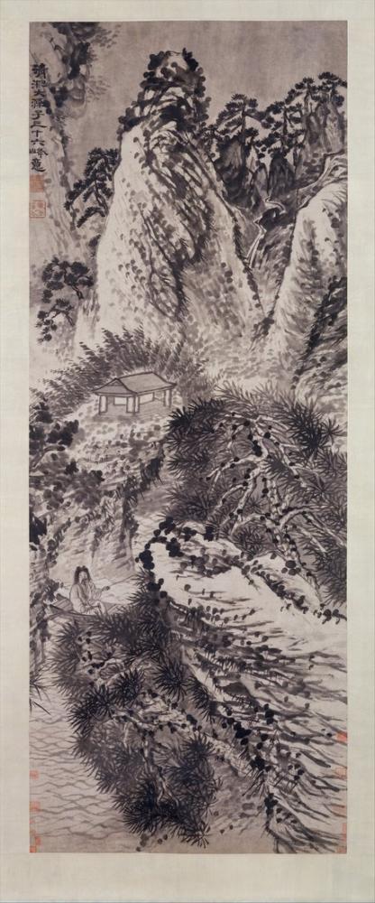 Daqian Zhang Otuz Altı Zirvesi Yeniden Düzenlendi Mount Huang, Kanvas Tablo, Daqian Zhang