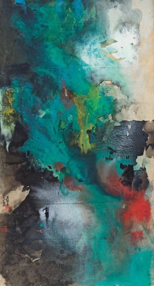 Daqian Zhang Dağların İhtişamı, Kanvas Tablo, Daqian Zhang, kanvas tablo, canvas print sales