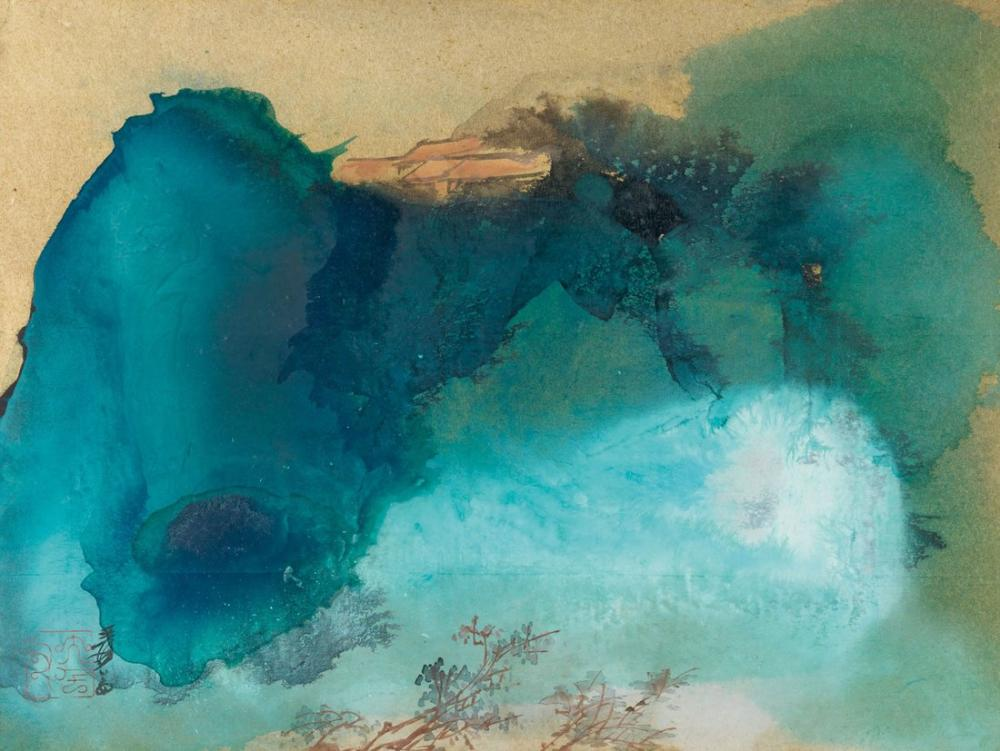 Daqian Zhang Verdant Landscape, Canvas, Daqian Zhang, kanvas tablo, canvas print sales