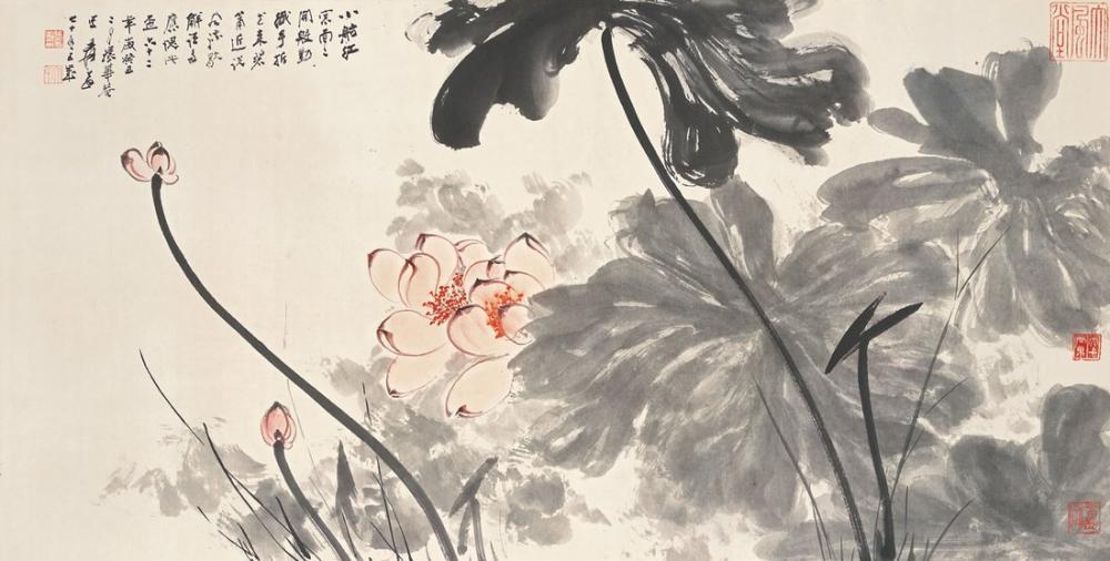 Daqian Zhang Lotus II, Kanvas Tablo, Daqian Zhang