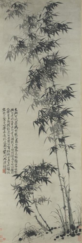 Daqian Zhang Bambu Üzerinde Rüzgar, Kanvas Tablo, Daqian Zhang