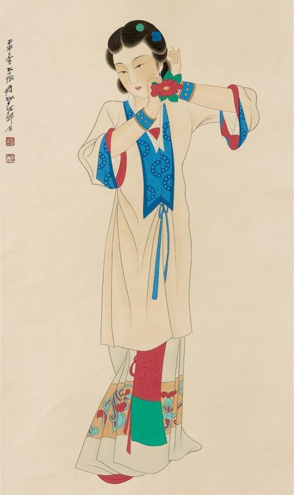 Daqian Zhang Young Bayan, Kanvas Tablo, Daqian Zhang