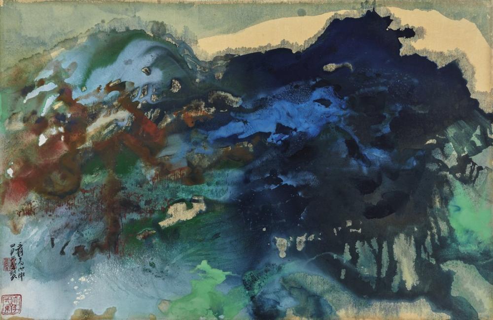 Daqian Zhang Autumn Landscape II, Canvas, Daqian Zhang, kanvas tablo, canvas print sales