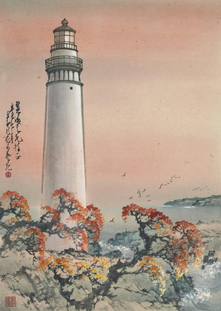 Daqian Zhang Deniz Feneri, Kanvas Tablo, Daqian Zhang