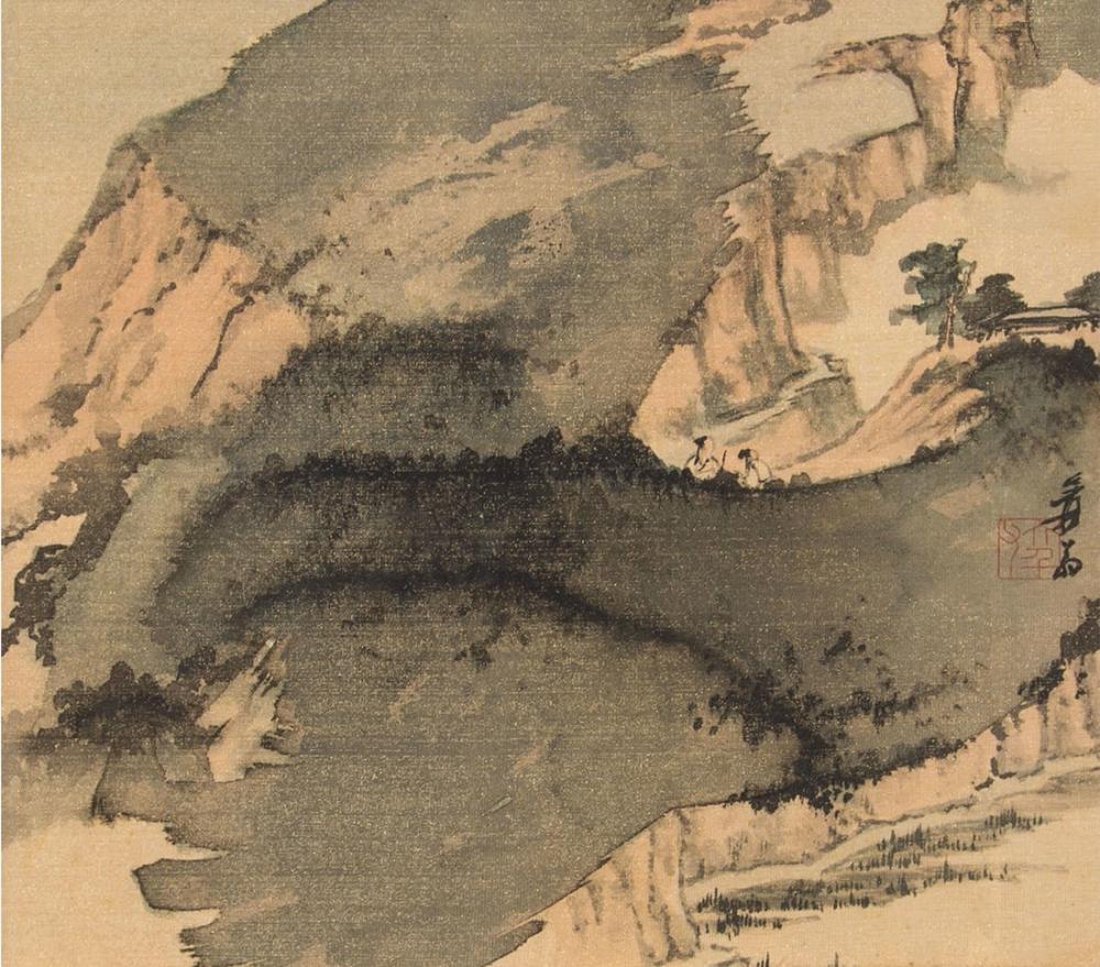 Daqian Zhang Derin Dağlarda Yolcular, Kanvas Tablo, Daqian Zhang