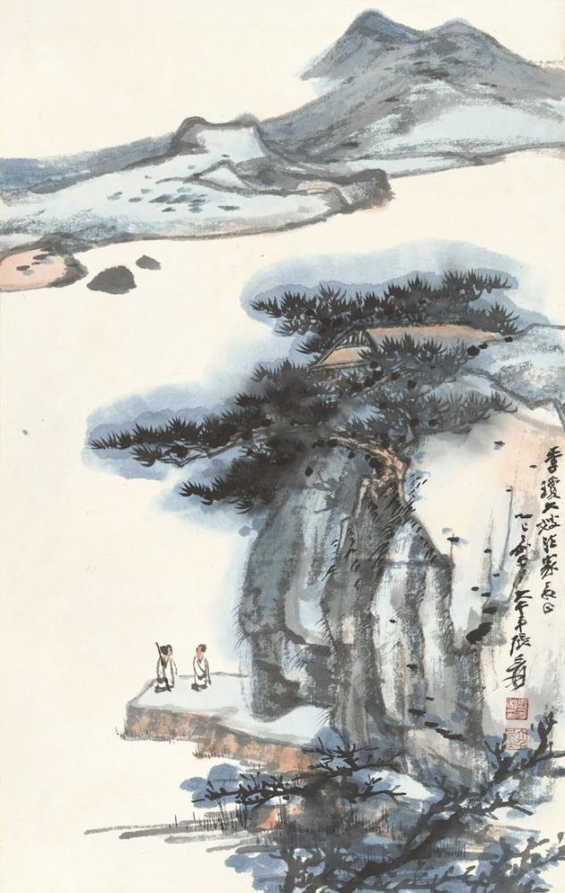 Daqian Zhang Yavaşça Deniz Kıyısında Karşılaşma, Kanvas Tablo, Daqian Zhang