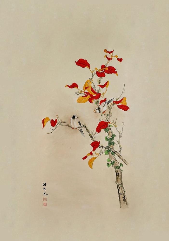Daqian Zhang Kuş Ve Çiçek, Kanvas Tablo, Daqian Zhang