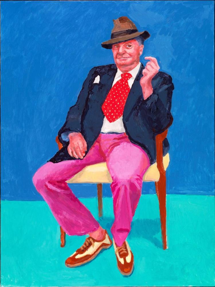 David Hockney, 82 Portre ve 1 Natürmort, Kanvas Tablo, David Hockney