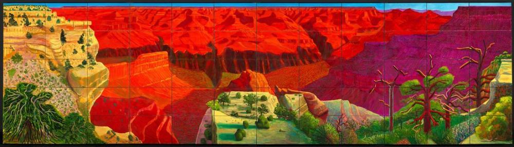 David Hockney, Daha Büyük Bir Büyük Kanyon 1998, Kanvas Tablo, David Hockney
