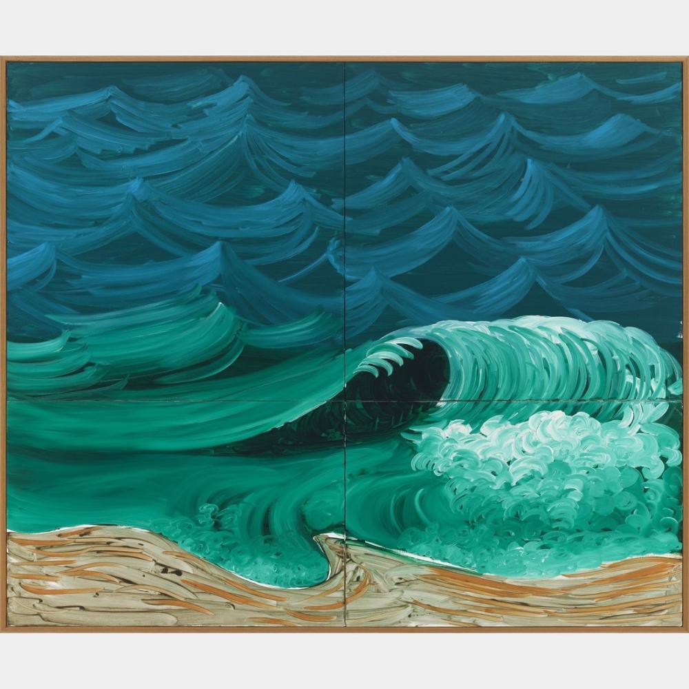 David Hockney, Daha Büyük Bir Dalga, Kanvas Tablo, David Hockney