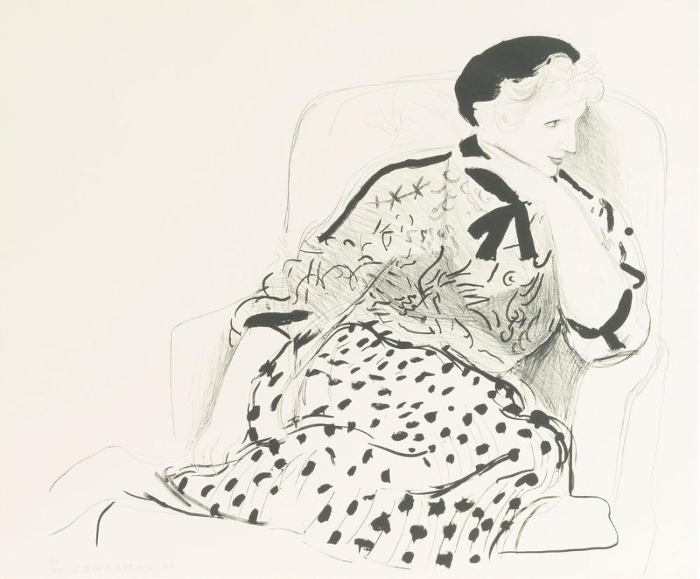David Hockney, Celia in an Armchair, Figure, David Hockney, kanvas tablo, canvas print sales